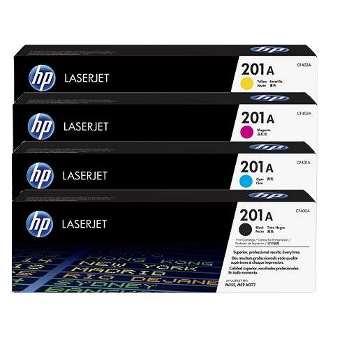 HP 201A 4 Pack Bundle (CF400A-CF403A) (Genuine)