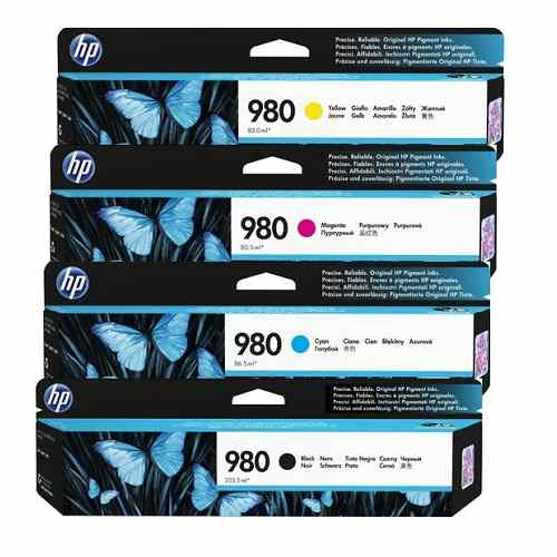 HP 980 4 Pack Bundle (D8J07A-D8J10A) (Genuine)
