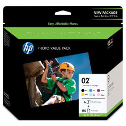 HP 02 6 Pack Bundle (Genuine)