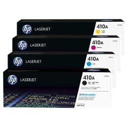 HP 410A 4 Pack Bundle  (CF410-3A) (Genuine)