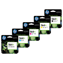 HP 564XL (CN684WA/CB322WA-CB325WA) 10 Pack Bundle (Genuine)