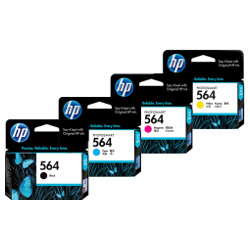 HP 564 4 Pack Bundle(Genuine)