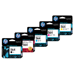 HP 564 5 Pack Bundle (CB316WA-CB320WA) (Genuine)