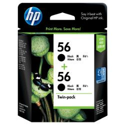 HP 56 (C6656AA) 2 Pack Bundle (Genuine)