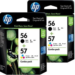 HP 56/57 4 Pack Bundle (C6656AA-C6657AA) (Genuine)