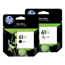 HP 61XL 2 Pack Bundle (Genuine)