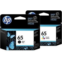 HP 65 2 Pack Bundle (N9K01AA-02AA) (Genuine)