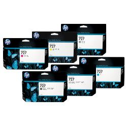 HP 727 6 Pack Bundle (C1Q12A/B3P19A-B3P24A) (Genuine)