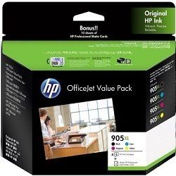 HP 905XL 4 Pack Bundle (T6M05/09/13/17AA) (Genuine)