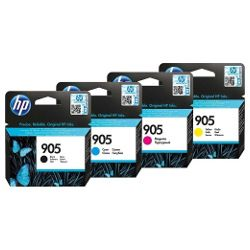 HP 905 4 Pack Bundle (T6M01AA/T6L89/93/97AA) (Genuine)