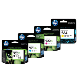 HP 920XL 4 Pack Bundle (CD972AA-CD975AA) (Genuine)