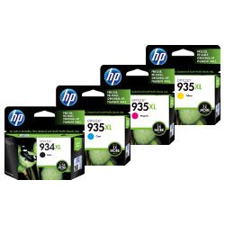 HP 934XL/935XL (C2P23AA-C2P26AA) 4 Pack Bundle (Genuine)
