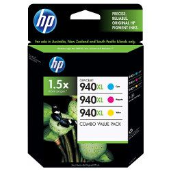 HP 940XL (C4907AA-C4909AA) 3 Pack Bundle (Genuine)