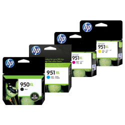 HP 950XL/951XL 4 Pack Bundle (Genuine)
