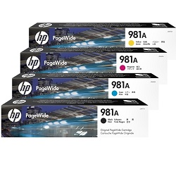 HP 981A 4 Pack Bundle (J3M68A-71A) (Genuine)