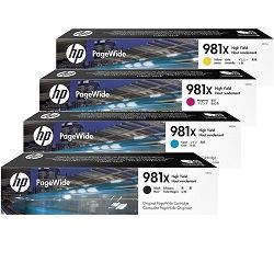 HP 981X 4 Pack Bundle (L0R09A-12A) (Genuine)