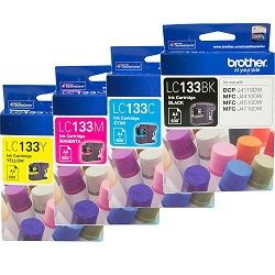 Brother LC133 4 Pack Bundle (Genuine)