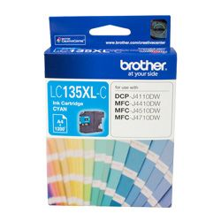 Brother LC135XL-C Cyan High Yield (Genuine)