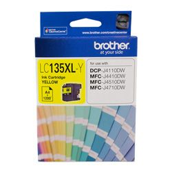 Brother LC135XL-Y Yellow High Yield (Genuine)