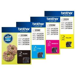Brother LC233 8 Pack Bundle (Genuine)
