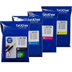 Brother LC3317 4 Pack Bundle (Genuine)