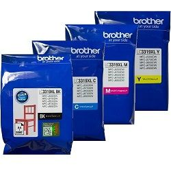 Brother LC3319XL 4 Pack Bundle (Genuine)