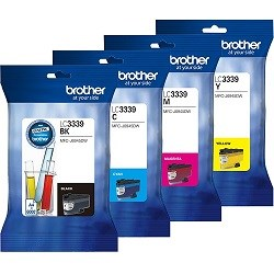 Brother LC3339XL 4 Pack Bundle (Genuine)