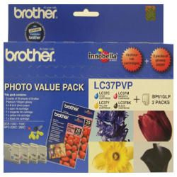 Brother LC37PVP 4 Pack Bundle (Genuine)