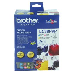 Brother LC38PVP 4 Pack Bundle (Genuine)