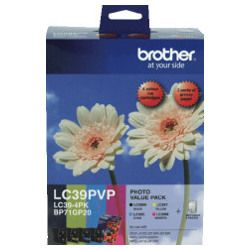 Brother LC39PVP 4 Pack Bundle (Genuine)