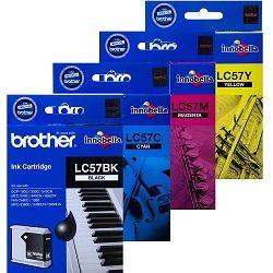 Brother LC57 4 Pack Bundle (Genuine)