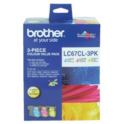 Brother LC67CL 3 Pack Bundle (Genuine)