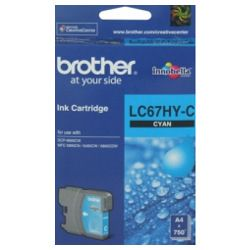 Brother LC67HY-C Cyan High Yield (Genuine)