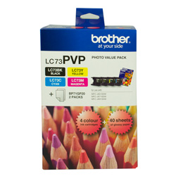 Brother LC73PVP 4 Pack Bundle (Genuine)