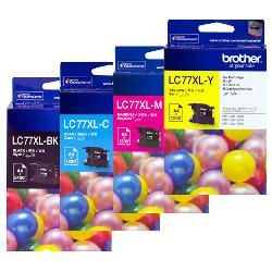 Brother LC77XL 4 Pack Bundle (Genuine)