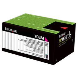Lexmark 708H Magenta High Yield Prebate (70C8HM0) (Genuine)