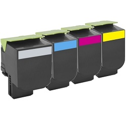 Remanufactured 708H 5 Pack Bundle (70C8HK0/C0/M0/Y0)
