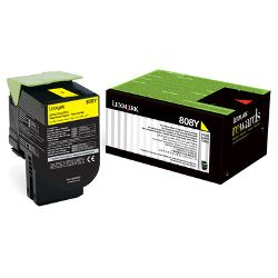 Lexmark 808 Yellow Prebate (80C80Y0) (Genuine)