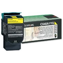 Lexmark C540A1YG Yellow Prebate (Genuine)