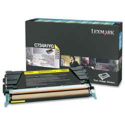 Lexmark C734A1YG Yellow Prebate (Genuine)
