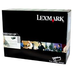 Lexmark X651H11P Black Prebate (Genuine)