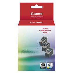 Canon PG-40/CL-41 3 Pack Bundle (Genuine)