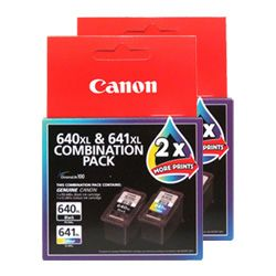 Canon PG-640XL/CL-641XL 4 Pack Bundle (Genuine)