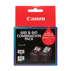 Canon PG-640/CL-641 2 Pack Bundle (Genuine)