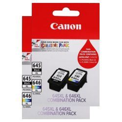 Canon PG-645XL/CL-646XL 4 Pack Value Pack (Genuine)