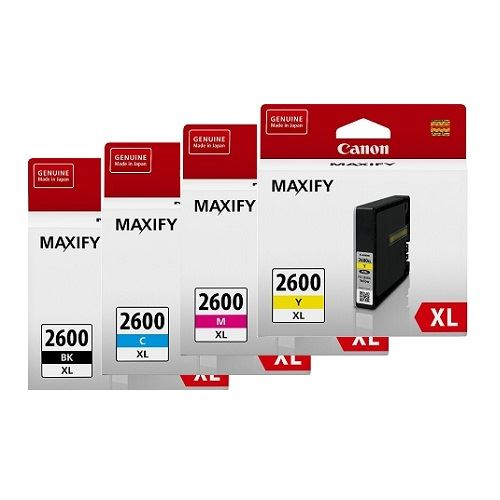 Canon PGI-2600XL 4 Pack Bundle (Genuine)