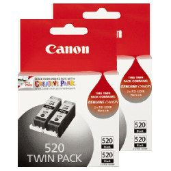 Canon PGI-520BK 4 Pack Bundle (Genuine)