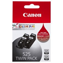 Canon PGI-525BK 2 Pack Bundle (Genuine)