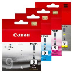 Canon PGI-9 4 Pack Bundle (Genuine)