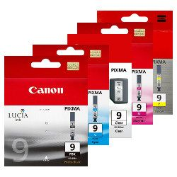 Canon PGI-9 5 Pack Bundle (Genuine)